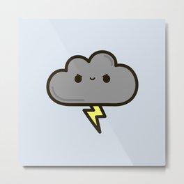 Cute lightning cloud Metal Print