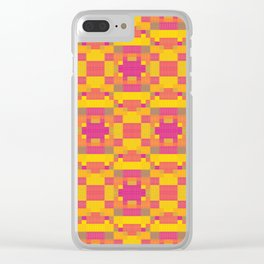 High Definition Modern African Quilt Clear iPhone Case