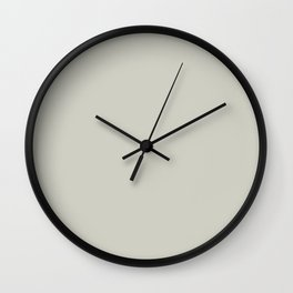 Light Chalky Pastel Gray Solid Color Wall Clock