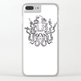 Fight lab Octopus Clear iPhone Case