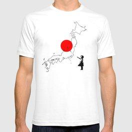 Japanese girl balloon T-shirt