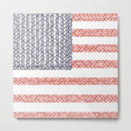 Captain American Flag Metal Print