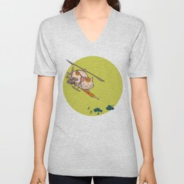 Apache Attack Cat Unisex V-Neck