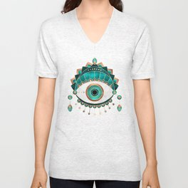 Teal Eye Unisex V-Neck