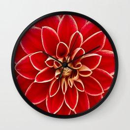 Red Dahila Wall Clock