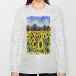 Sunflower Fields Of Dreams Van Goth Long Sleeve T-shirt
