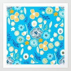 swedish summer blue Art Print