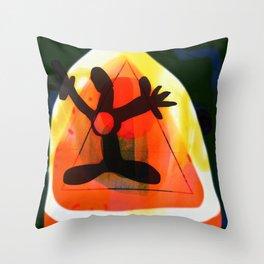 Thrown Throw Pillow