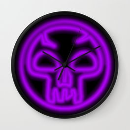 Magic the Gathering, Neon Black Mana Wall Clock