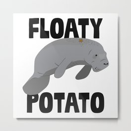 Floaty Potato Metal Print