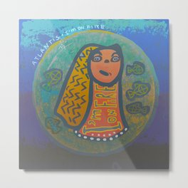 Atlantis Icon / I'm on Fire! Metal Print