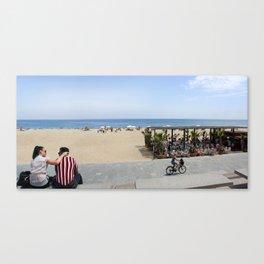 Barcelona beach Canvas Print