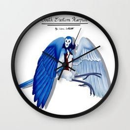 Blue Bird Harpy Wall Clock