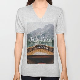 Live the Adventure - Adventure Awaits Unisex V-Neck