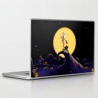 jack skellington Laptop & iPad Skins featuring Christmas Nightmare Jack Skellington by Inara