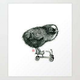Chick on speed Art Print