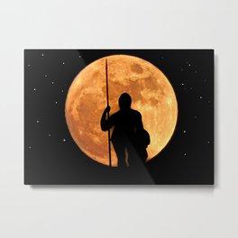 A knight at night Metal Print