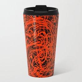 orange swirls Travel Mug