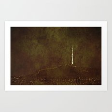 Seoul Tower Art Print