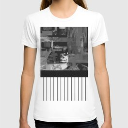 B&W II - Black and white, abstract, contrasting pattern T-shirt