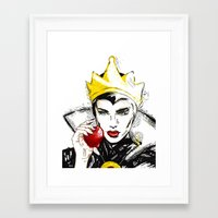 evil queen Framed Art Prints featuring Evil Queen by Dalles Wilie
