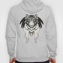 Tribal Tiger - White Hoody