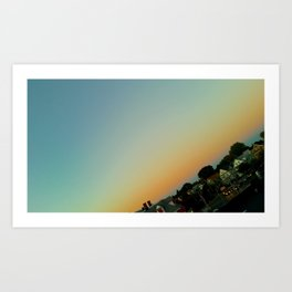 CitySkyNightfall Art Print