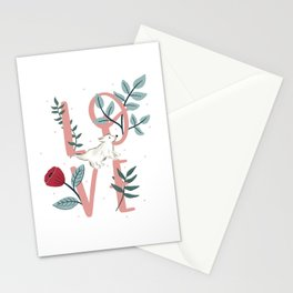 Floral Dog Love Stationery Cards
