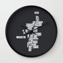 Eastern Kingdoms Wall Clock