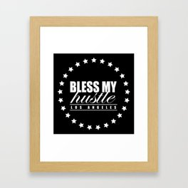 Bless My Hustle Official Logo Framed Art Print