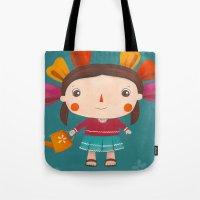 lolita Tote Bags featuring Lolita by Gabriela Granados