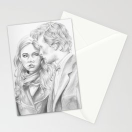 the doctor & amy Stationery Cards