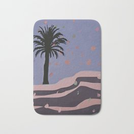 Autumnal Air around the Palm Tree Bath Mat