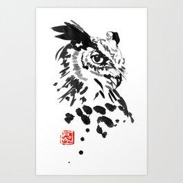 chouette owl Art Print