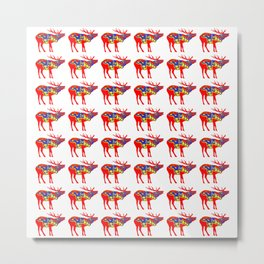 Graphic Dala Elk Multiples Metal Print