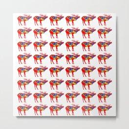 Graphic Elk 05 Swedish Dala Male Multiples Metal Print