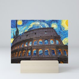 Colosseo Starry Night Mini Art Print