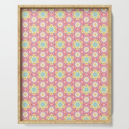 Pink floral pattern Serving Tray