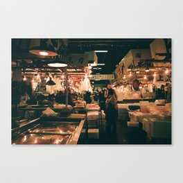 Tsukiji Fish Market Canvas Print