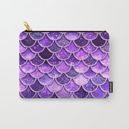 Pantone Ultra Violet Glitter Ombre Mermaid Scales Pattern Carry-All Pouch