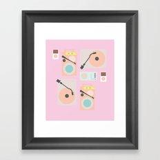 Music Lover Pastel Framed Art Print