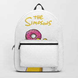 Homer's doughnut, animated tv sitcom, Matt Groening, fox, Bart, Lisa, Maggie, Marge, american family Backpack