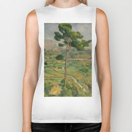 """Paul Cezanne """"Mountain Sainte-Victoire and the Viaduct of the Arc River Valley"""" Biker Tank"""
