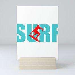 Surfer Surfing Man Wave-rider water-sport Sea Gift Mini Art Print