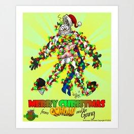 Cowman Christmas Art Print