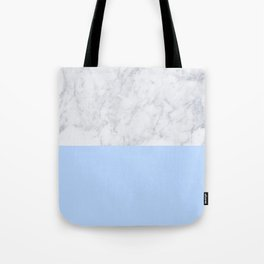 Duck Egg Marble Tote Bag