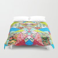 quilt Duvet Covers featuring Geometric Quilt by Sandra Arduini