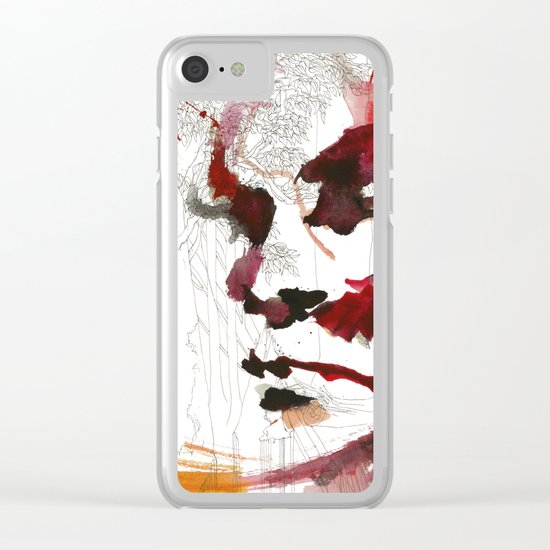 I'll give some burning colours to your white forest Clear iPhone Case