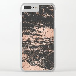 Marble Black Rose Gold - Dope Clear iPhone Case