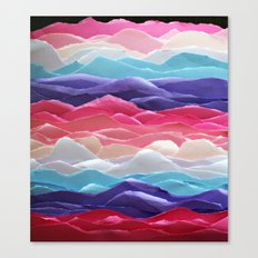 Colour waves II Canvas Print